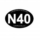 North 40 Oval Decal