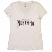 North 40 Ladies Heather White V Neck Tee